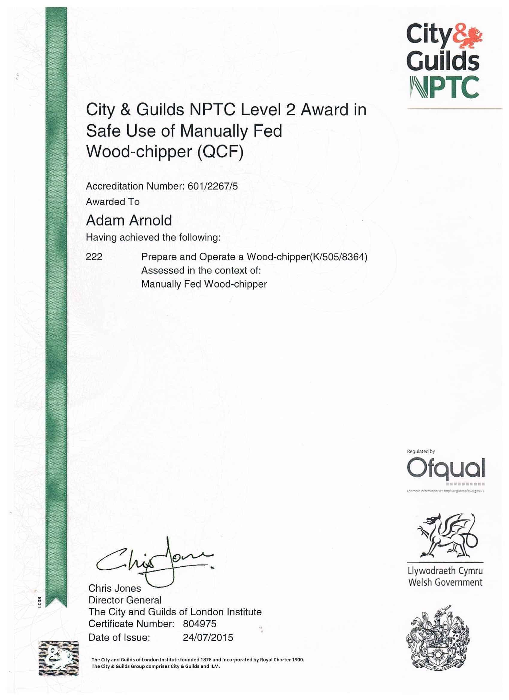 City and guilds certificate template gallery templates example first aid certificate template free blank printable certificates surrey tree services unit 222 nptc l2 safe xflitez Choice Image